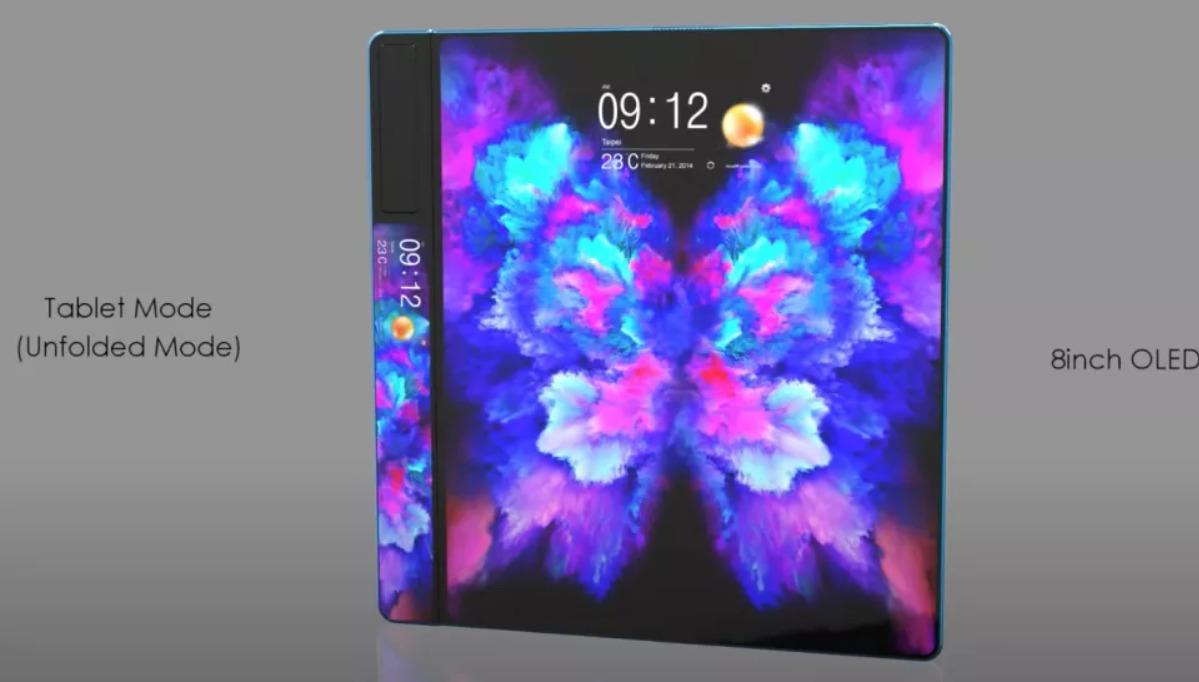 Samsung Galaxy Fold 2のコンセプトイメージ2
