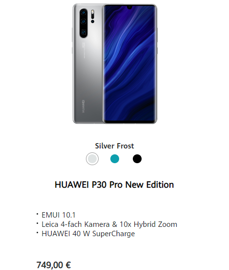 HUAWEI P30 ProとNew Edition