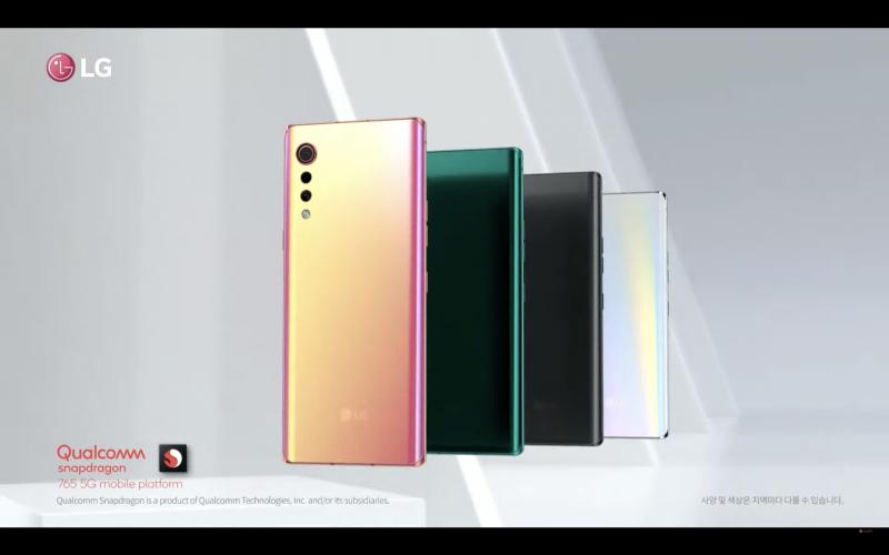LG VELVETのデザイン画像2