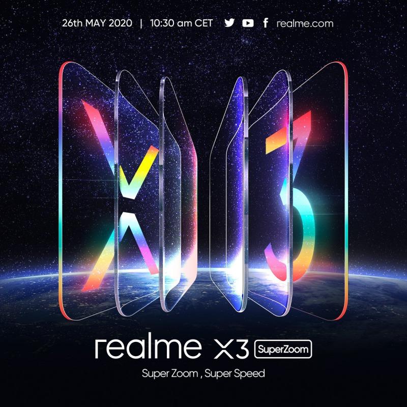 realme X3 SuperZoomの告知画像
