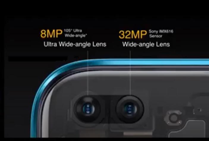 realme X3  SuperZoomのインカメラ