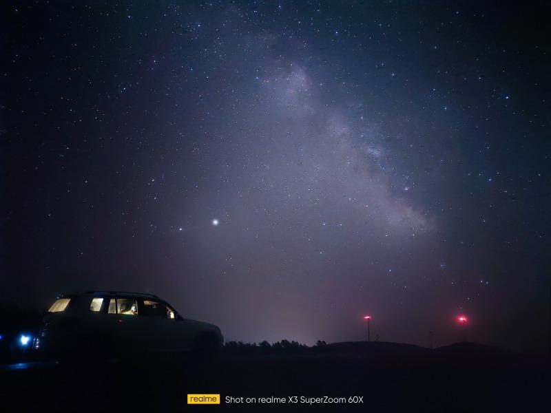 realme X3 SuperZoomによる星空のサンプル写真