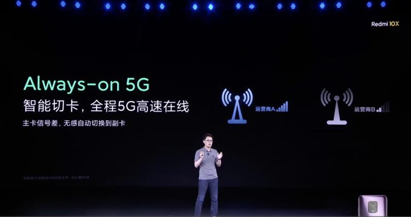 Redmi 10Xの5Gの安定性