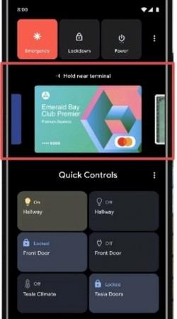 Android 11に搭載されると見られる電源ボタンメニュー 1