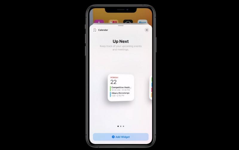iOS 14ウィジェット選択画面