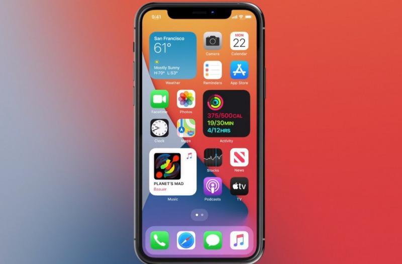 iOS 14ホーム画面の画像