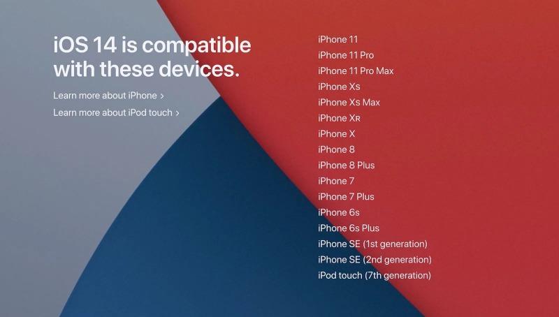 iOS 14 サポート一覧