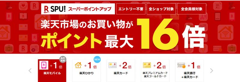 楽天モバイル ポイント最大16倍キャンペー