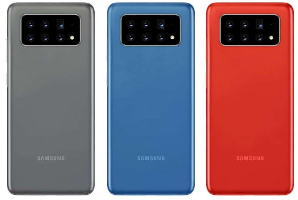 6カメラ搭載Galaxy端末のイメージ