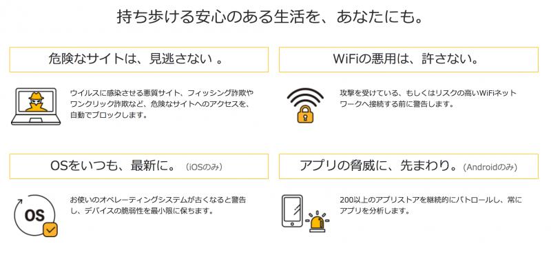 OCNモバイルONE ノートンモバイルセキュリティ