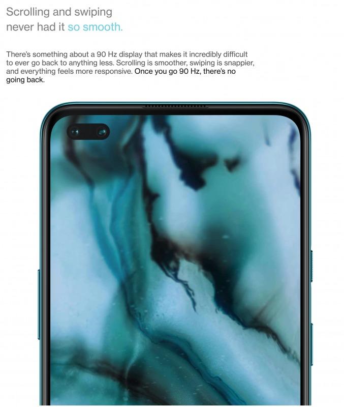 OnePlus Nordのディスプレイ