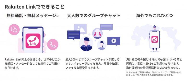 楽天モバイル Rakuten Link