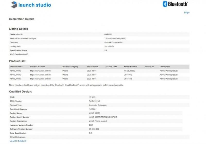 ZenFone 7のリーク