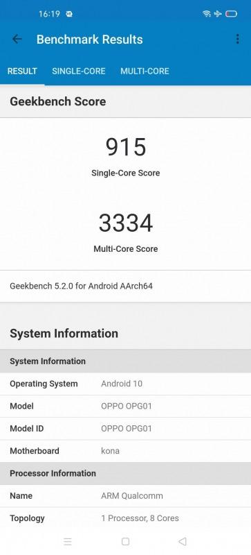 OPPO Find X2 Pro Geekbench 5