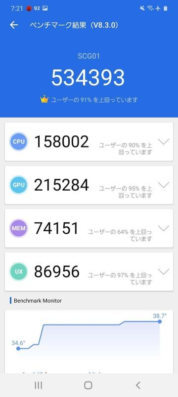 Galaxy S20 5G AnTuTu(V8.3.4)