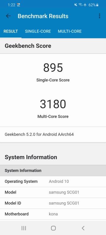 Geekbench 5 Galaxy S20 5G