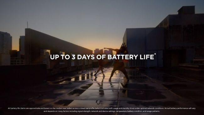 最長3日間使用可能な大容量バッテリー