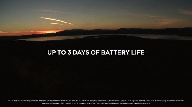 最大3日間のバッテリー持ちを実現
