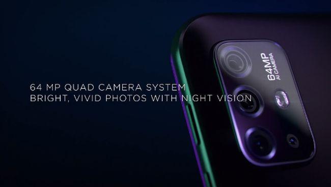 6400万画素のクアッドカメラを搭載