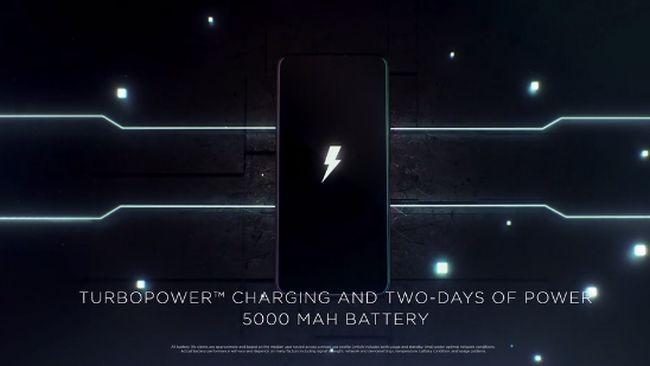 大容量バッテリー5000mAhを搭載