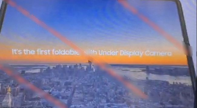 フォルダブルスマートフォンとしては初めてディスプレイ埋め込み型カメラを採用