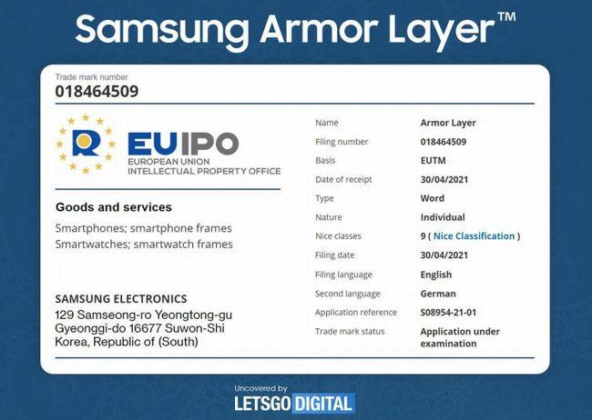 Amor Layerの商標申請