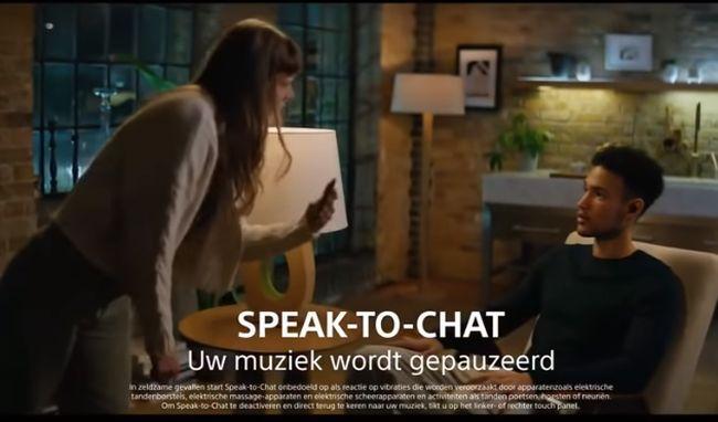 SPEAK-TO-CHAT機能によりスムーズな会話が可能