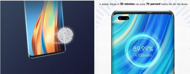 ディスプレイ内指紋認証に急速充電にも対応