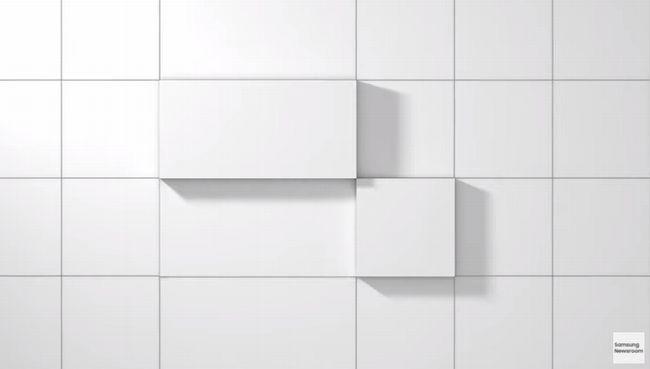 格子状の罫線から浮かび上がるタイル状の何か
