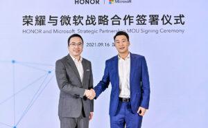 Honor Microsoft 提携